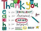 Thank You Card Quotes for Teachers Rachel Ellen Designs Teacher Thank You Card with Images