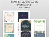 Thank You Card Quotes for Teachers Teacher Appreciation Quote Tag Set Appreciation Printable