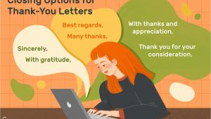 Thank You Card Sign Off Thank You Letter Closing Examples