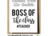 Thank You Card to Boss Personalised Teacher Thank You Card Boss Of the Class