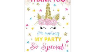Thank You Card Unicorn theme Personalized Unicorn Tags Unicorn Thank You Tags Unicorn