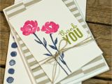 Thank You Card Upload Photo Painted Petals A Post N Go Note Card Beautiful Handmade
