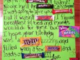 Thank You Card Using Candy Bars Candy Bar Birthday Card with Images Candy Bar Birthday