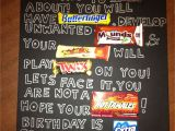 Thank You Card Using Candy Bars Candy Bar Over the Hill Poster 60th Birthday Poster Candy