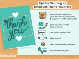 Thank You Card Via Email Employee Thank You Letter Examples