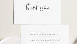 Thank You Card Wedding Template Printable Thank You Card Wedding Thank You Cards Instant