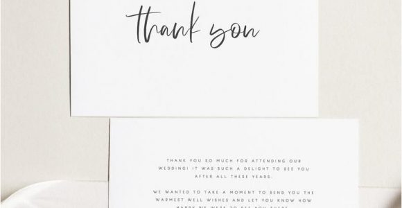 Thank You Card Wedding Text Printable Thank You Card Wedding Thank You Cards Instant
