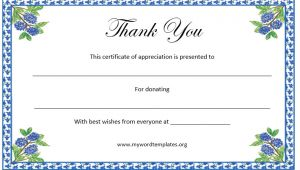Thank You Certificate Templates for Word Thank You Certificate Template Microsoft Word Templates