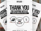 Thank You Flyer Template Free Thank You Minimal Flyer Graphicriver