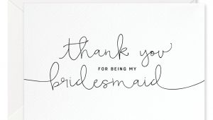 Thank You for Being My Bridesmaid Card Thank You for Being My Bridesmaid Card Wedding Supplies