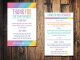 Thank You for Shopping with Us Card Independent Retailer Cards Washing Instruction Card 4×6