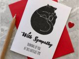 Thank You for Sympathy Card Cat Loss Sympathy Card