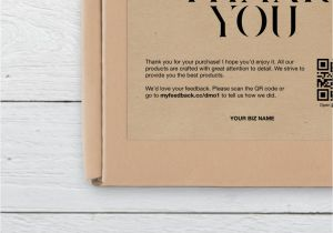 Thank You for the Beautiful Card and Gift Business Thank You Card Thank You for Your Purchase