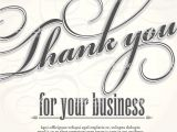Thank You for Your Business Card Template Thank You for Your Business Design Card Template Stock
