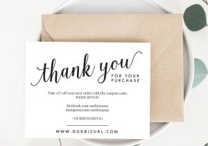 Thank You for Your Purchase Card Il Fullxfull 1138638482 9pnk Jpg Business Thank You Cards