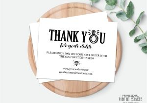 Thank You for Your Purchase Card Jewelry or Wedding Business Package Insert Postcard Thank