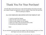 Thank You for Your Purchase Email Template Template Instructions for Your Customers In Etsy