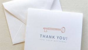 Thank You for Your Referral Card Real Estate Agent Thank You Card Thank You for Your