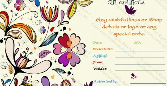 Thank You Gift Certificate Template Special Thank You Gift Certificate Template