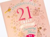Thank You Gifts Card Factory 21st Birthday Card Granddaughter Dancing Shoes