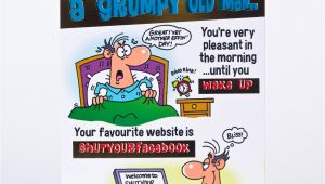 Thank You Gifts Card Factory Birthday Card Grumpy Old Man