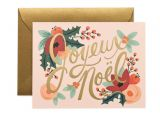 Thank You Holiday Card Messages Joyeux Noel Card Set Printed Holiday Cards Holiday Card