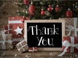 Thank You Holiday Card Messages Stock Photo