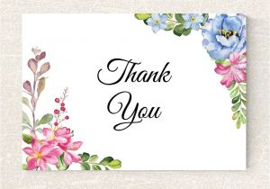 Thank You Holiday Card Messages Wedding Thank You Card Printable Floral Thank You Card