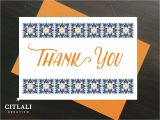 Thank You In Spanish Card Talavera Spanish Tile Inspired Skulls Thank You Cards with