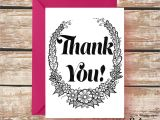Thank You In Spanish Card Thank You Card Coloring Greeting Card 5×7 A7 Inspirational