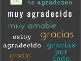 Thank You In Spanish Card Thank You In Spanish Learning Spanish Spanish Language