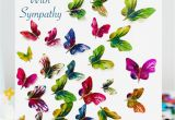 Thank You In Sympathy Card butterfly with Sympathy Card Premium butterfly Range