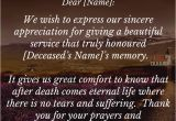 Thank You Letter for Sympathy Card Funeral Thank You Notes Funeral Thank You Card Wording for