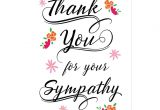Thank You Letter for Sympathy Card Thank You for the Sympathy Postcard Zazzle Com Sympathy