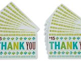 Thank You Message for Gift Card Amazon Com 15 Gift Cards Pack Of 20 Thank You Card Design