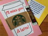 Thank You Message for Gift Card I Ll Miss You A Latte End Of the Year Cards for My