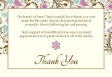 Thank You Message for Sympathy Card Template for Thank You Card Best Of 12 Best Thank You Card