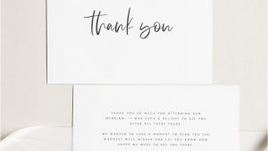 Thank You Note Card Template Printable Thank You Card Wedding Thank You Cards Instant