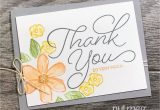 Thank You Note for Birthday Card Fancy Friday Blog Hop Just because Thanks Card Note