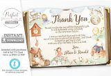 Thank You Note for Birthday Card Nursery Rhyme Baby Shower Thank You Card Mother Goose Thank