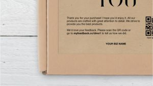 Thank You On Business Card Business Thank You Card Thank You for Your Purchase