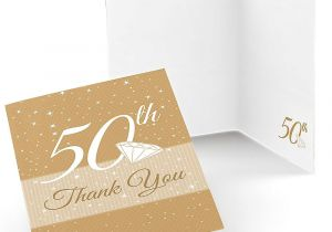 Thank You On Gift Card 50th Anniversary Wedding Anniversary Thank You Cards 8