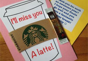 Thank You On Gift Card I Ll Miss You A Latte End Of the Year Cards for My