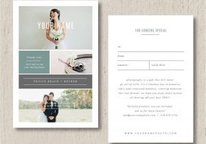 Thank You On Gift Card Photography Gift Card Template Wedding Photography