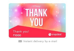 Thank You On Gift Card Snapdeal Thank You E Gift Card