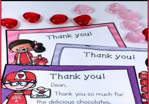 Thank You On Gift Card Valentine Thank You Notes Editable with Images Teacher