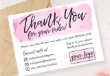 Thank You Small Card Template Instant Download Editable and Printable Thank You Card for