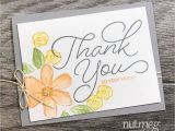 Thank You so Much Card Fancy Friday Blog Hop Just because Thanks Card Note