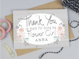 Thank You so Much Card Thank You for Being My Flower Girl Card Personalised