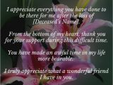 Thank You Sympathy Card Wording Awesome Bereavement Thank You Notes New Design